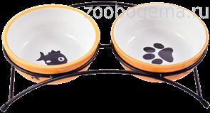 КЕРАМИКАРТ Миски на подставке двойные для собак и кошек