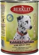 Консервы BERKLEY Кролик с овсяными хлопьями для взр. собак