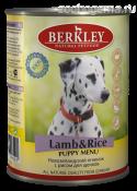 Консервы BERKLEY Ягненок с рисом для щенков