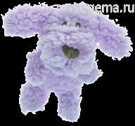 AROMADOG Игрушка для собак Собачка 6 см малая сиреневая