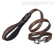 Поводок GIOTTO G20/120 кожаный, коричневый