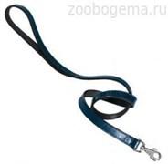 Поводок MODA G20/100 синий, лакированная кожа
