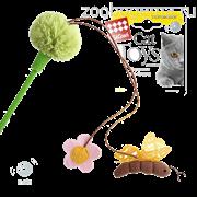 GIGWI Дразнилка зеленая с пчелой и цветочками