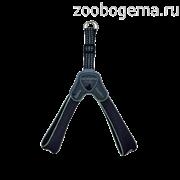 """Мягкая шлейка """"Супер Комфорт"""" черная  (обхват груди 35-45 см/5-6 кг)  (Harness CINQUETORRI BLACK  SZ4) C100BG040"""