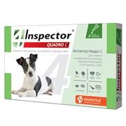 Инспектор Quadro капли д/собак от 4 до 10 кг внешних и внутренних паразитов