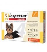 Инспектор Quadro капли д/собак от 1 до 4 кг внешних и внутренних паразитов