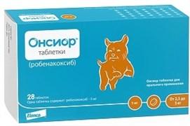 Elanсo Онсиор 5 мг таблетки для собак массой тела от 2,5 кг до 5 кг, 28 таб